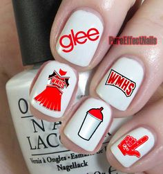 Glee Nail Decals! these are so cool, i wish i had these for the premiere of season six!