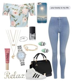 """""""New style✨"""" by enniahxox ❤ liked on Polyvore featuring Miss Selfridge, Topshop, Miu Miu, adidas, Lipsy, Casetify, NARS Cosmetics, Geneva and Too Faced Cosmetics"""