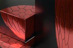 PACKAGING PRESSED GLASS-DECOR MOLECULAR STRUCTURE OF GLASS(design at Koncern studio)