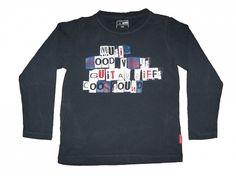 Maat 116 Longsleeve Donkerblauw met print voor  Merk Name it