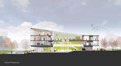 The Design Building / Leers Weinzapfel Associates.  The University of Massachusetts, Amherst