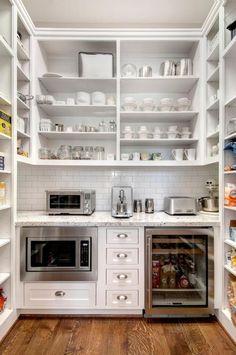 UndercoverArchitect-GallerieB Kitchen Pantry Design, New Kitchen, Kitchen Storage, Kitchen Decor, Kitchen Ideas, Fridge Storage, Kitchen Supplies, Kitchen Designs, Country Kitchen