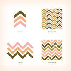 Yes, there is a difference between chevrons and zigzags...