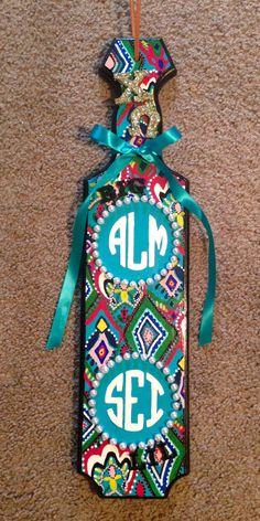 Paddle I just finished for my beautiful big!! #chiomega #xo #sororitypaddle #bigandlittle #lillypulitzer #monograms