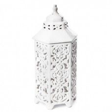 Ceramic Hexagon Lantern With Lid    $14.00@http://antiquefarmhouse.com/current-sale-events/after-christmas-delights.html