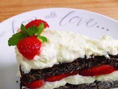 Ez a süti nem csak nagyon szép, de borzasztóan finom is! Paleo, Cheesecake, Pudding, Desserts, Recipes, Van, Food, Cukor, Poppy