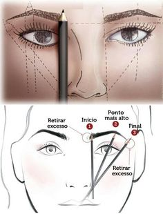 Material for painting the eyebrows Preparation for profiling your eyebrows … – microblading Eyebrow Makeup Tips, Permanent Makeup Eyebrows, Eye Makeup Steps, Beauty Makeup, Maquillage Black, Maquillage Yeux Cut Crease, Perfect Eyes, Perfect Eyebrows, How To Shape Eyebrows