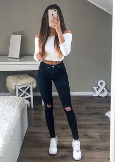 cute outfits for school . cute outfits with leggings . cute outfits for women . cute outfits for school for highschool . cute outfits for winter . cute outfits for spring Cute Comfy Outfits, Cute Outfits For School, Stylish Outfits, Cool Outfits, White Girl Outfits, Cute Casual Outfits For Teens, Autumn Outfits For Teen Girls, Best Outfits, White Vans Outfit