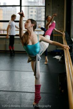 Isabella Boylston, Soloist, ABT, at the barre (with David Hallberg and Veronika Part in the background)