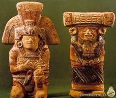Dos figuras, con falda y con tocado. Cultura Tolteca (Ecatepec, México) Autor: Fecha: 900-1250 Museo: Museo Nacional de Antropología de México