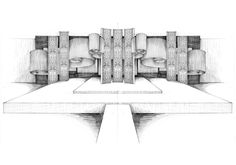 Hand sketched perspective by Nhelskie on DeviantArt - Moyiki Sites Wedding Backdrop Design, Wedding Stage Design, Wedding Decor, Unity In Art, Wedding Drawing, Architecture Presentation Board, Exhibition Stand Design, Photo Booth Backdrop, Stage Decorations