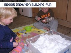 indoor snow day activities for kids building mini snowmen with their own DIY snowmen building kit