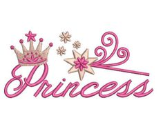 Cute Tiara Appliqué Machine Embroidery by AppleDumplinDesign