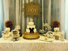 20 Boy Baby Shower Decoration Ideas Showers Dessert Table And Babies
