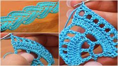 Crochet Stripy Tape Lace Tutorial