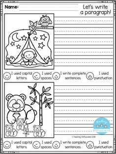 Narrative Writing Prompts, Kindergarten Writing Prompts, Kindergarten Freebies, First Grade Writing, First Grade Classroom, Writing Resources, Teaching Writing, Writing Activities, Writing Skills