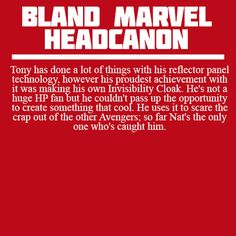 Bland Marvel Headcanons- Nat's the only one who has caught him