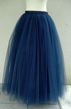 Maxi tutu tulle skirt maxi petticoat dark blue tutu by Fanfaronada, €150.00