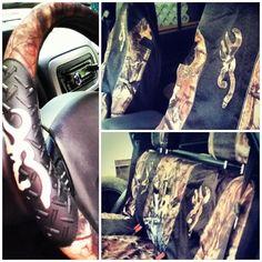 Inside of my jeep! Camo love!