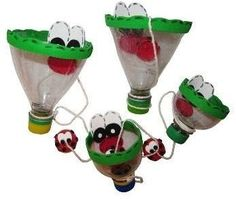 juguetes hechos con material reciclado para niños - Buscar con Google