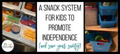 A Snack System for Kids to Promote Independence (and Save Your Sanity) - Primary Perfectionist Blueberry Bars, What Can I Eat, Pin Boards, Easy Meal Plans, Banana Chips, Ate Too Much, Baby Carrots, Happy Mom, Food Waste