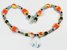Chunky Halloween Candy Corn Necklace  OOAK by FeedYourNeedDesigns, $15.00