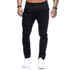 YYG Men Ruched Hip Hop Workout Drawstring Casual Jogger Pants Sewatpants
