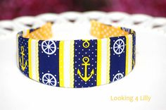 Nautical headband Nautical Print Anchor Fabric by looking4lilly, $10.95