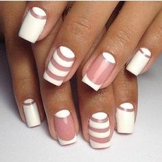 Today i'll show some French Manicure Nail Designs for you ! A French manicure is a chic, polished, and timeless look. What's a French Manicure Nail Design ? Beautybigbang offer French Manicure Nail Designs for 2018 ! Gel Nail Art, Easy Nail Art, Nail Polish, Acrylic Nails, Nail Art Stripes, Striped Nails, Simple Nail Art Designs, Best Nail Art Designs, French Nails