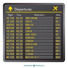 Departure board vector @Cynthia Rímoli