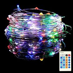 LE® LED Copper Wire Lights, Waterproof Starry String Lights, Multi-colour micro Thin Copper LED Strings, 32.8ft/10m 100 LEDs, Rope Lights for Christmas Tree, Party, Wedding, Garden, Festival, DIY