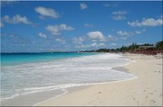 """Orient Beach, St. Maarten/St. Martin.  The most beautiful beach I've ever been to! Be sure to sport your favorite bikini on the LEFT side of the beach--- the right side is """"buff style""""! Been there, but couldn't find a t-shirt...lol"""