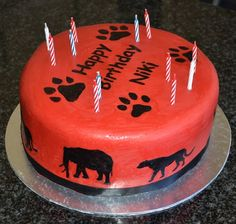 www.facebook.com/TheCakeArtists hand painted wild life birthday cake  #hand-painted #happy-birthday #cake #the-cake-artists #wildlife #animals