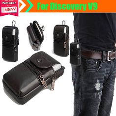 Genuine Leather Carry Belt Clip Pouch Waist Purse bag Case Cover for Discovery V9 Waterproof SmartPhone Free Drop Shipping