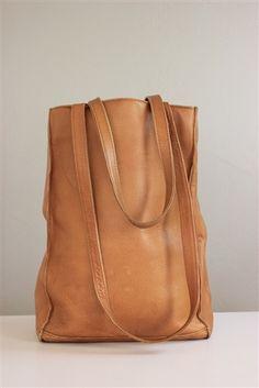 Vintage Tan Leather Satchel Shoulder Bag or Cross...   StyleCaster