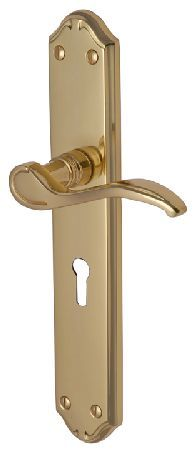 M.Marcus Heritage MM824 Verona Brass Lever Lock Door Polished brass Verona traditional lever lock door furniture. Outside measurements are 247x45mm and there is a keyhole cut into the backplate. These solid brass door handles are part of the Heritage Br http://www.MightGet.com/january-2017-12/m-marcus-heritage-mm824-verona-brass-lever-lock-door.asp
