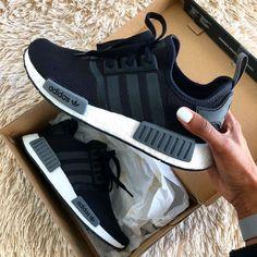 adidas nmd Source by heelstplahndr zapatillas Nmd Sneakers, Sneakers Mode, Sneakers Fashion, Fashion Shoes, Adidas Sneakers, Adidas Nmd Outfit, Black Adidas Shoes, Black Adidas Nmd, Black Adidas Dress