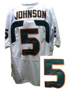 a7bcdbade Andre Johnson Autographed Jersey  SportsMemorabilia  MiamiHurricanes