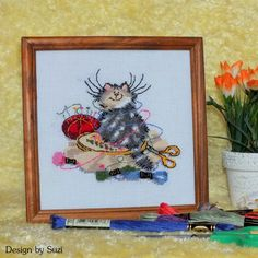 Margaret Sherry - Crafty Cat #margaretsherry #crossstitching