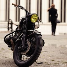 !!! ... OK...I get it...she's walking away.....but she left me her bike!!!  (Cafe Racer Dreams BMW R90/6)