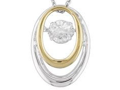 Moissanite Fire(Tm) 1.00ct Dew Two-tone 14kt Yellow Gold Over Platineve(Tm) Pendant & Chain, $254.99,MOISSANITE @JTV.COM,HEARTBEAT PENDANT