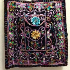 Handbag with multicolored beads & sequins