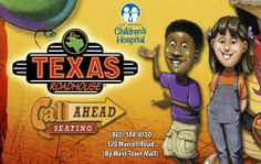 May 27, 2014: Texas Roadhouse at 120 Morrell Road will donate 10% of your guest check to East Tennessee Children's Hospital