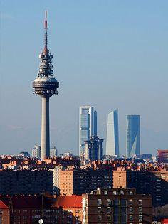 El skyline de Madrid.