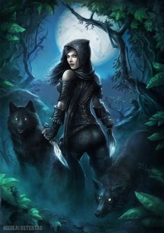 """It remind me of Hecate, Greek goddess of witchcraft and cross roads, under the full moon she can be """"found"""" at cross roads with her wolves."""