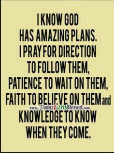 God's amazing plans...
