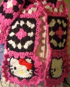 Crochet Parfait: Christmas Presents, Part II, free pattern Crochet Cat Pattern, Crotchet Patterns, Crochet Quilt, Crochet Blocks, Crochet Squares, Granny Squares, Free Pattern, Baby Girl Crochet, Cute Crochet