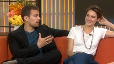 'Divergent' star Shailene Woodley's sexy cover wows co-star Theo James ||| His voice at the end just melted me