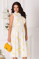rochie-de-vara-2019-7 Anastasia, High Neck Dress, Floral, Casual, Dresses, Fashion, Turtleneck Dress, Vestidos, Moda
