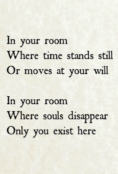 Martin Gore lyrics for In Your Room.